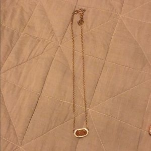 Kendra Scott Rose Gold Elisa drusy.